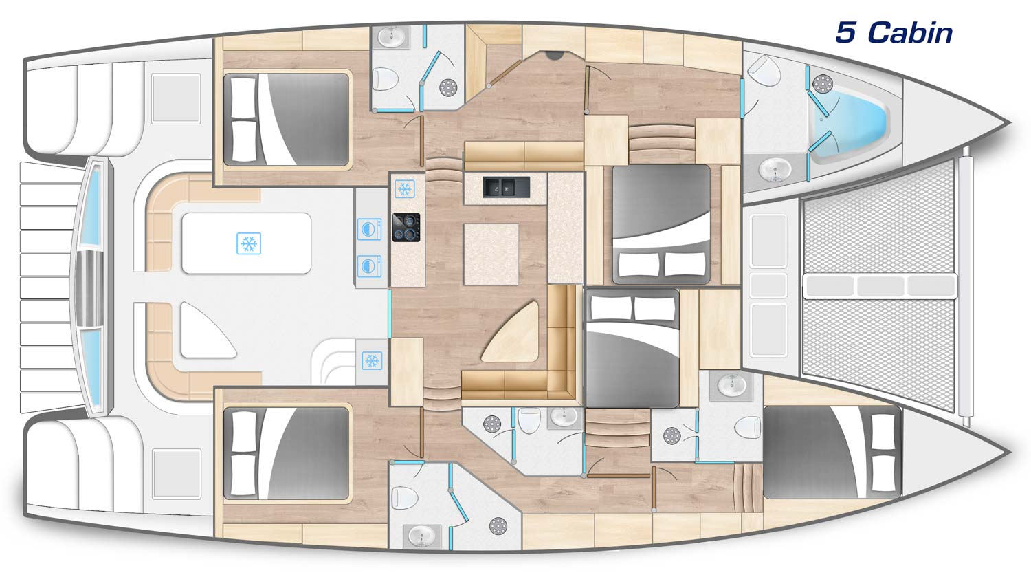 Royal Charters, Majestic 570 Cabin Layout