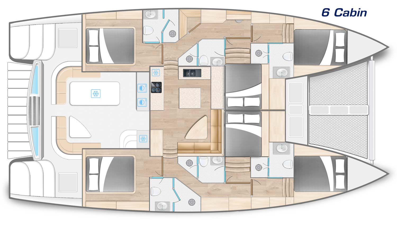 Royal Charters, Majestic 570, Cabin layout