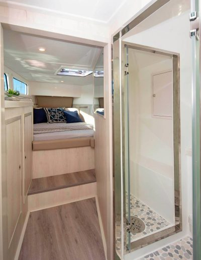 Royal Charters, BVI, Majestic 570 Catamaran, Barefeet Retreat, cabin