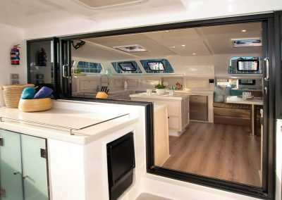 Royal Charters, Majestic 570 Fly Catamaran, Barefeet Retreat Galley