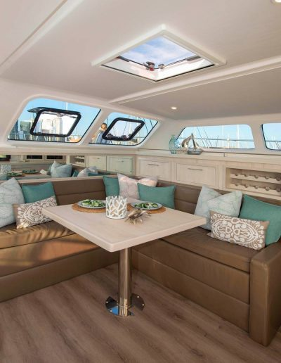 Royal Charters, BVI, Majestic 570 Catamaran, Barefeet Retreat, Salon