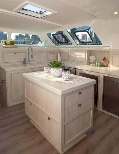Royal Charters, BVI, Majestic 570 Catamaran, Barefeet Retreat, Galley