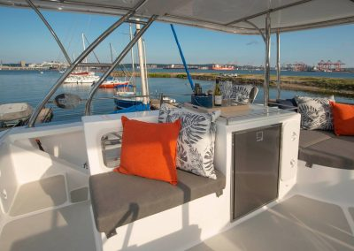 Royal Charters, Majestic 570 Fly Catamaran, Barefeet Retreat Flybridge
