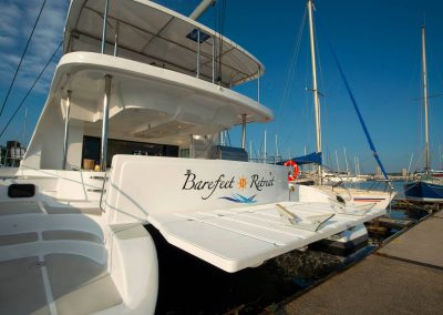 Royal Charters, Majestic 570 Fly Catamaran, Barefeet Retreat, aft