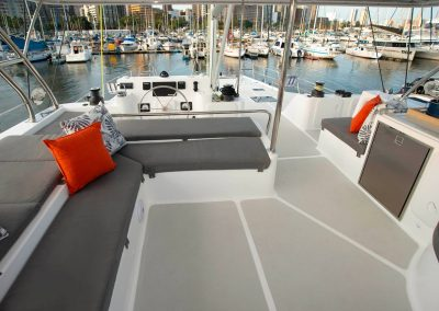 Royal Charters, Majestic 570 Fly Catamaran, Barefeet Retreat, Flybridge