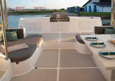 Royal Charters, Majestic 570 Fly Catamaran, Barefeet Retreat, deck