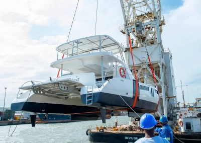 Royal Charters, Majestic 570 Fly Catamaran, Barefeet Retreat Launch